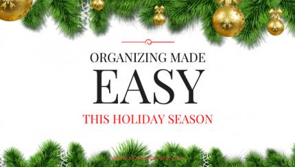 Organizing made easy
