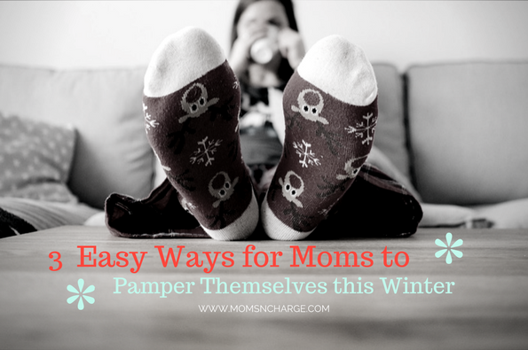 Winter self care pampering mom