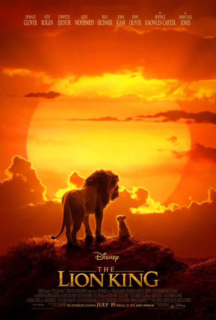 LION king live action movie poster